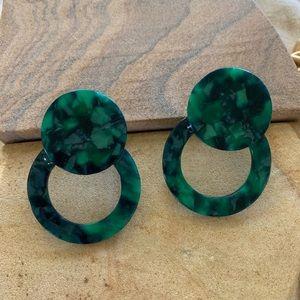 Acrylic tortoise statement earrings